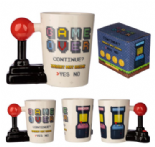 Game Over Joystick Shaped Handle Mug with Arcade Decal